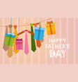happy father day family holiday necktie greeting vector image