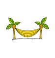 icon hammock vector image