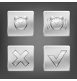 metal icons vector image