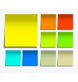 modern square sticky note set on white vector image
