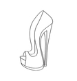 Shoes on a high heel isolated on white background vector image
