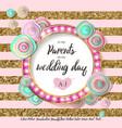 wedding flower gold mint vector image