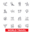world travel winter tourism skiing diving vector image