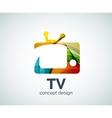 TV logo template vector image