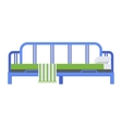 Sleeping bed vector image