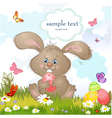 happy rabbit2 vector image vector image