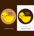 duck cafe cup vector image
