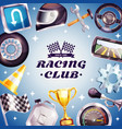 racing club frame vector image