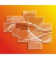 Background orange abstract website pattern vector image vector image