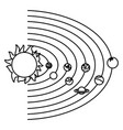 solar system with planets and sun orbit science vector image