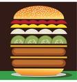 Cheeseburger double vector image