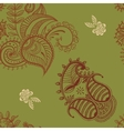 ethnic seamless pattern Indian ornament vector image