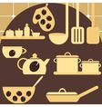 set of kitchen appliances vector image vector image