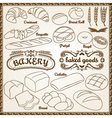 outline bakery set vector image