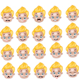 Cartoon Little boy various face expressions vector image