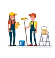 woman and man worker vector image
