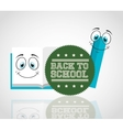 back to school with character supplies vector image