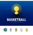 Basketball icon in different style vector image