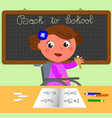 disabled girl at school vector image