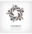 fraternity people symbol vector image