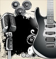 grunge-music-background vector image