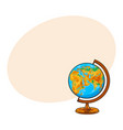 hand drawn school classroom globe geographical vector image