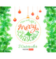 watercolor Christmas vector image