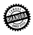 Famous dance style Bhangra stamp vector image