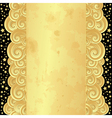 Golden frame with curly waves vector image vector image