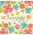 spring greeting card vector image vector image