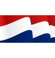 Background with waving Dutch Flag vector image vector image