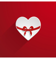 holiday card with a heart vector image vector image