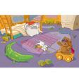 Funny Teddy Bear and Rabbit vector image