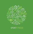 linear sport and fitness logo vector image