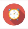 Alarm clock flat icon vector image