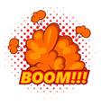 boom comic book explosion icon pop art style vector image