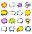 comic colorful explosion speech bubbles set vector image