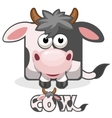 cute cartoon square cow vector image