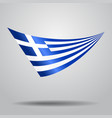 greek flag background vector image