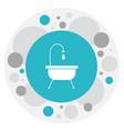 of travel symbol on bathtub vector image