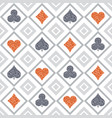 seamless casino gambling poker background vector image