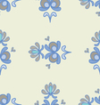 Spring ornaments blue 2 vector image