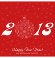 2013 Happy New Year greeting card vector image vector image