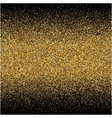 background with gold gradients texture on black vector image