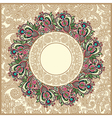 Ornate floral carpet background vector image