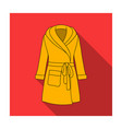 green lady s gown after bath home clothes for vector image