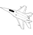 russian jet fighter aircraft vector image