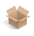 isometric open white box realistic package vector image