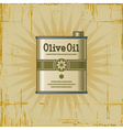 Retro Olive Oil Can vector image vector image