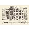 Amsterdam Vintage Engraved Hand Drawn vector image